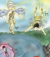 [Collab] The boy who flew too high by Chickadee-chii