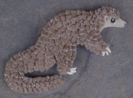 Scaly crafts - Pangolin Fridge Magnet04 by demiveemon