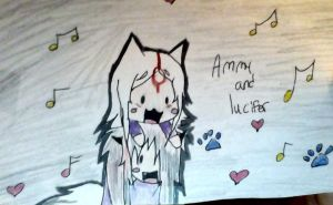 Ammy And Lucifer by EmoMuffin200