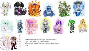 The Elements of Gaia by KitsuneEXE