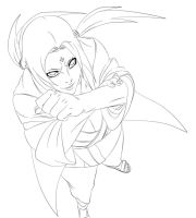Tsunade Naruto 576 lineart by benderZz