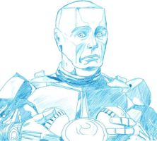 Kryten pencils by charligal