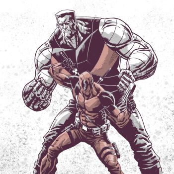 Colossus and Deadpool by Fuacka