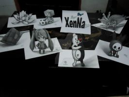 Let's Play! - 3D Drawing by XenNa-Scarlet