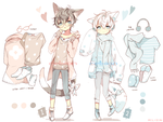 [AUCTION*CLOSED]Lineheart*12+13 by Relxion-kun