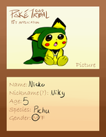 Pichu pet by AgenderedKing