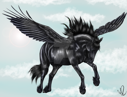 Friesian Pegasus by Auldale