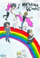 A painfully colorful MCR piece by KwalalaFalconwing