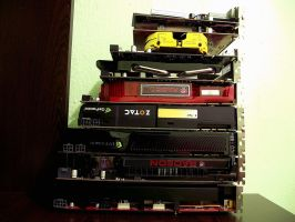Some graphics cards that i have by D3516N3R