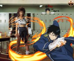Roy Mustang On Fire by ExecutorCid