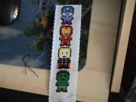 Avengers bookmark part 3 by dottypurrs