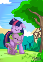 Twilight Spike Sad Times by mysticalpha