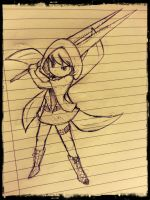 girl with a sword by MinyMints