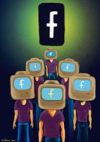 Facebook is watching you by gilderic