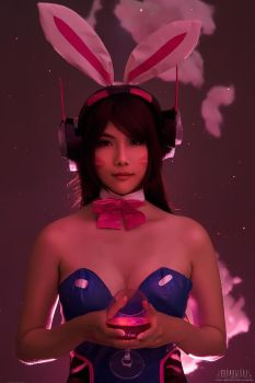 Bunny D.VA - Over Watch cosplay. by MurMoruno