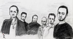 Linkin Park Sketch by IreneLaMagra