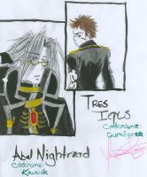Abel Nightroad and Tres Iqus by YazVolKanik
