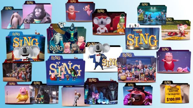 Sing Movie 2016 Folder Icon Pack by MaxineChernikoff