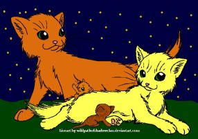 Firestar and Sandstorm + kits by DemonicVampyreWolf
