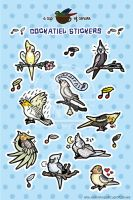 Cockatiel Stickers by Brushfeather