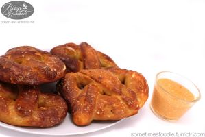 Pretzels and Buffalo Cheese Dip by chat-noir