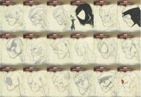Marvel sketch cards V by scribblebri