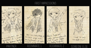 | DH | First Impressions by albireorivulet