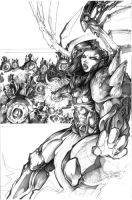 ARCHAIC issue 10 cover pencils by weshoyot