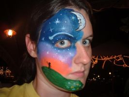 Face Paint- Night Sky by Jshibby