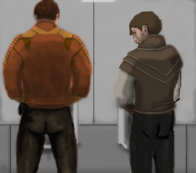 Carth and Atton gets a wall by Cyanida