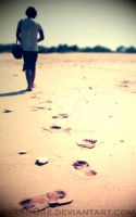 Footprints in the Sand by avaad0re