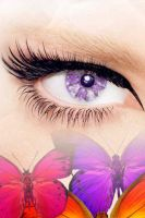 Purple butterflies eyes by Pinkie75