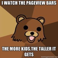 WHEN PEDOBEAR LOOK AT THE PAGEVIEW BARS by UnicornOfShadows