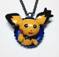 Shiny Spikey Eared Pichu Pop-Out Necklace by LeiliaK
