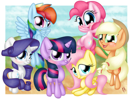 filly mane 6 by shadowsn25