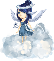 Guardian of the Clouds .:Chibi:. by DRA9ONS