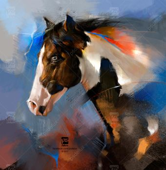 20170204 Horse Psdelux by psdeluxe