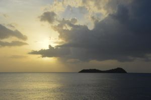 Sunset on Pigeon island for Maria Amanda birthday by A1Z2E3R