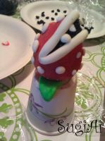 Piranha Plant Cake Pop by SugiAi