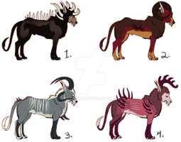 Hellhound Adoptables [4/4] CLOSED by demonguts