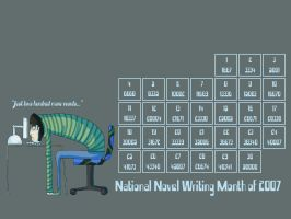 NaNoWriMo Wallpaper '07 by Lingonpirat