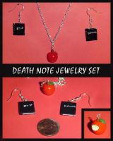 Death Note Charm Jewelry Set by YellerCrakka