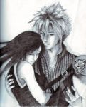 Solace - Cloud + Tifa by lonelymiracle