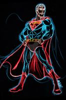 Superman Neon by AlanSchell