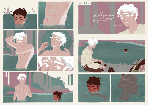 Templar and priest take a bath together by Munkell
