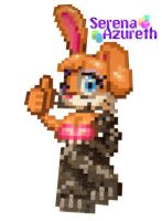 Bunnie Rabbot Bead Sprite by SerenaAzureth