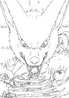 NT Chap 1 Fanfic Cover Lineart by nekoni