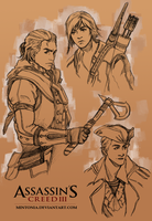 Connor Kenway by Mintonia