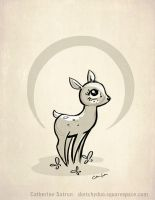 Baby Deer by CatherineSatrun