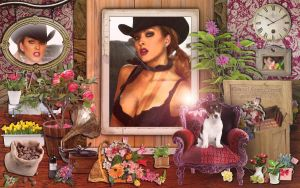 Shannon cowgirl home corner by magXlander
